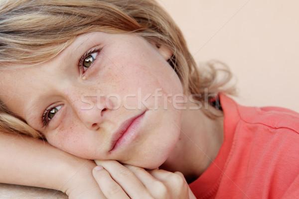 Triste malheureux enfant pleurer larmes enfants Photo stock © godfer