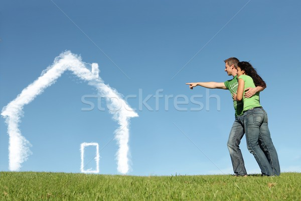 new house buyers concept for mortgage, home loan Stock photo © godfer