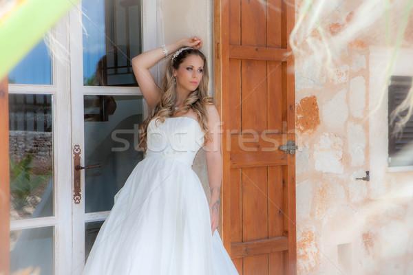 édes 16 érettségi buli ruha fiatal nő Stock fotó © godfer
