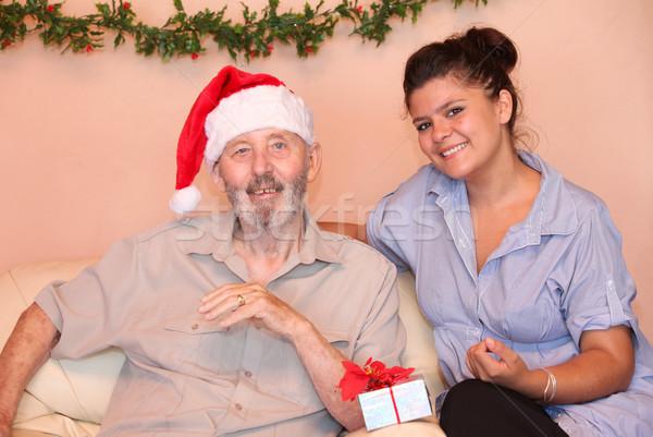 Senior natal cuidador neto dom ajudar Foto stock © godfer