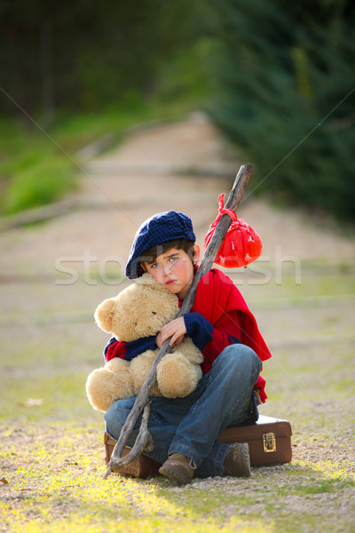 lonely child concept Stock photo © godfer