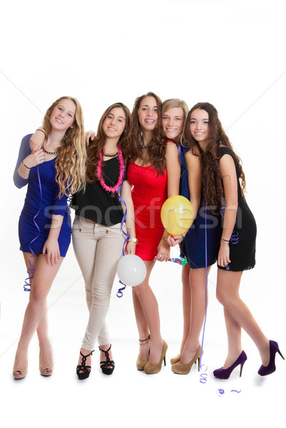 hen party young girls celebrating Stock photo © godfer