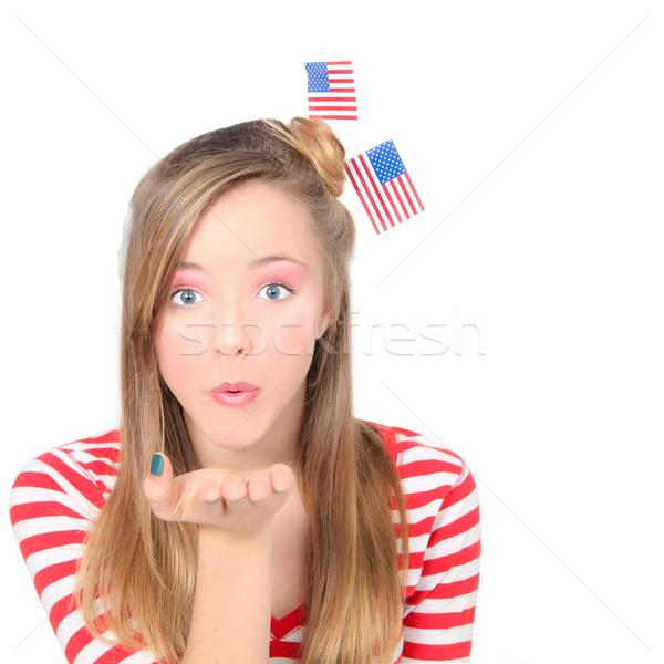 Americano ragazza Foto d'archivio © godfer