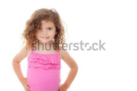 cute little girl Stock photo © godfer
