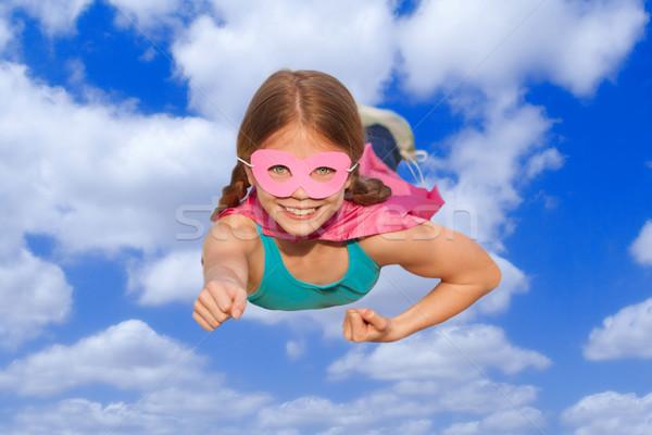 superhero travel flying concept Stock photo © godfer