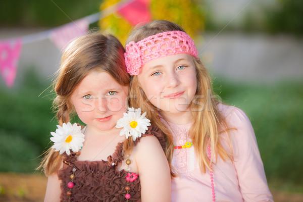 sisters Stock photo © godfer