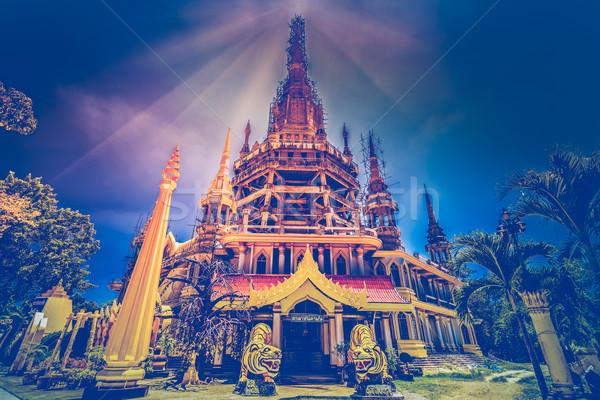 Yer ziyaret Tayland kaplan mağara tapınak Stok fotoğraf © goinyk