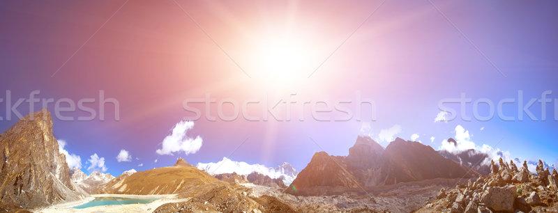 Gyönyörű hegy tájkép kilátás Everest régió Stock fotó © goinyk