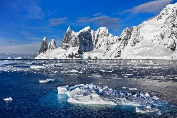 Snow-capped mountains in Antarctica Stock photo © goinyk