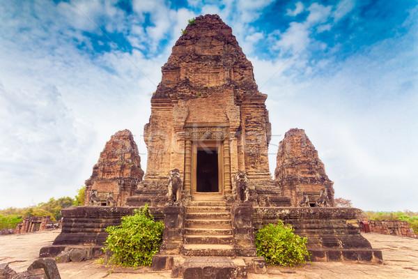 Templo angkor Camboja antigo budista Angkor Wat Foto stock © goinyk