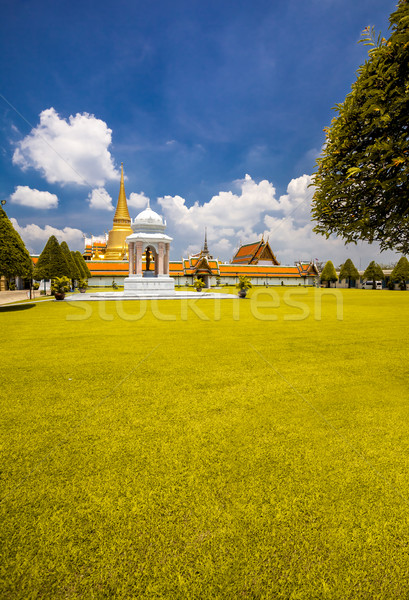 Palota Bangkok fényűző királyi kert Thaiföld Stock fotó © goinyk