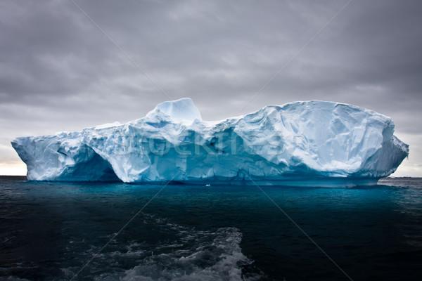 Stock fotó: Jéghegy · hó · víz · óceán · kék · utazás