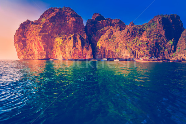 Picturesque sea landscape. Stock photo © goinyk