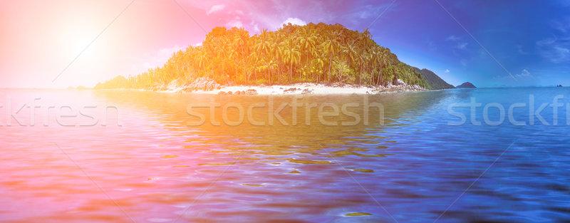 Сток-фото: идеальный · курорта · Тропический · остров · побережье · линия · Таиланд