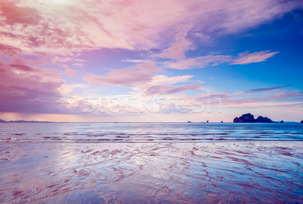 Paysage plage krabi nature mer Photo stock © goinyk