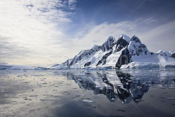 Snow-capped mountains Stock photo © goinyk