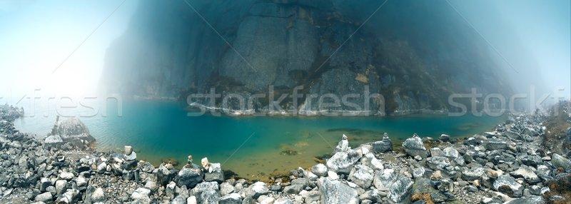 Gyönyörű hegy tájkép kilátás szent tó Stock fotó © goinyk