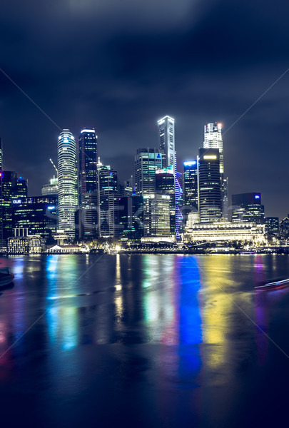 Singapore at night Stock photo © goinyk