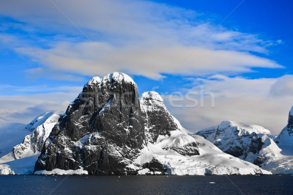 Snow-capped mountains in Antarctica Stock photo © goinyk