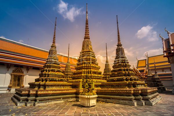Tempio Thailandia città muro chiesa culto Foto d'archivio © goinyk