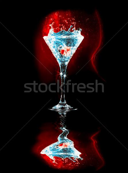 Moderno fresco vidro fundo azul clube Foto stock © goinyk