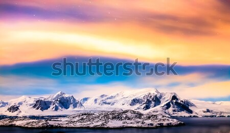 Beautiful snow-capped mountains in Antarctica Stock photo © goinyk