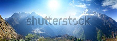 Güzel dağ görmek everest bölge park Stok fotoğraf © goinyk
