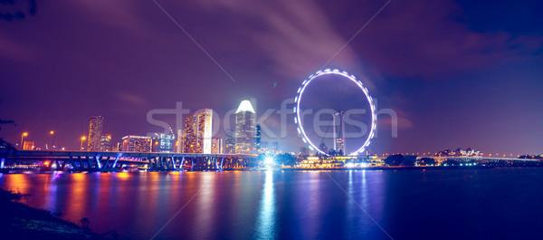 Cingapura noite cidade mar rio Foto stock © goinyk