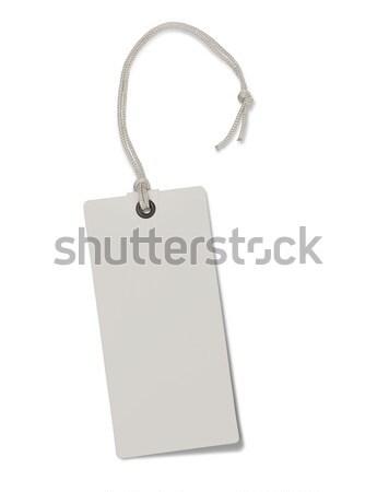 Photo stock: Papier · tag · isolé · blanche · signe · vente