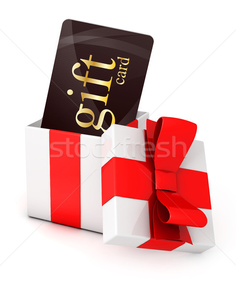 Gift card in a box Stock photo © goir