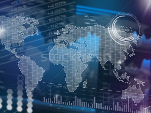 Abstract stock market chart Stock photo © goir
