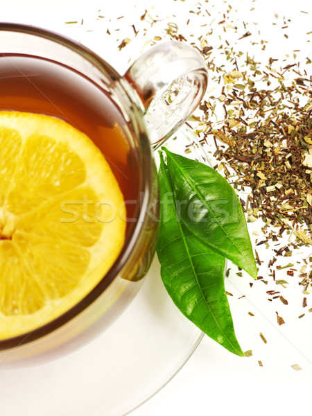 ストックフォト: 茶碗 · クローズアップ · カップ · 茶 · 孤立した