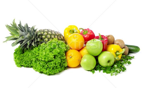Stok fotoğraf: Meyve · sebze · yalıtılmış · beyaz · gıda · salata