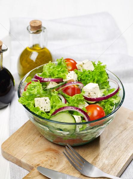Salad bowl on the table Stock photo © goir