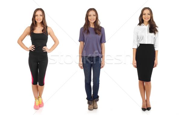 Jeunes femmes regarder caméra blanche femmes Photo stock © goir