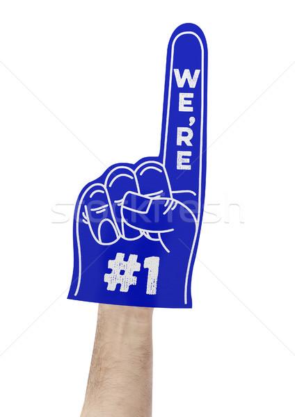We're number 1 foam hand Stock photo © goir