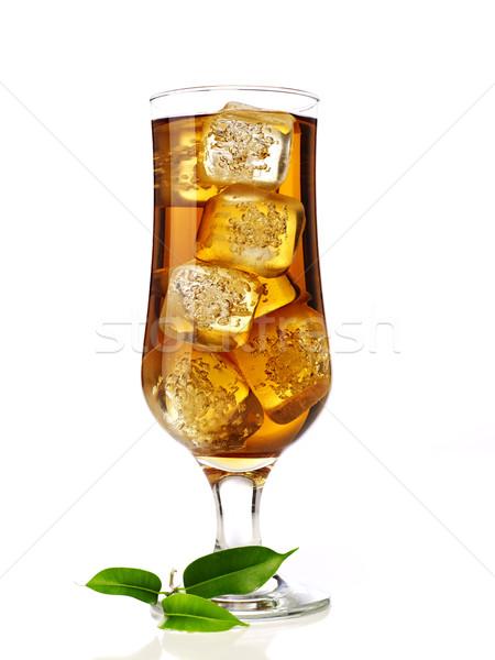Ice tea with ice cubes Stock photo © goir