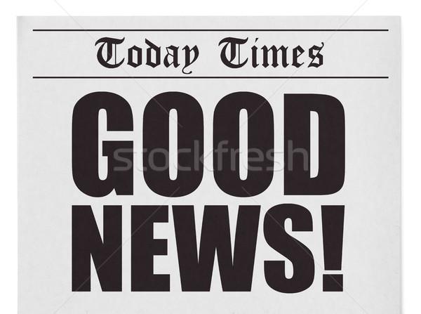 újság főcím izolált fehér üzlet papír Stock fotó © goir