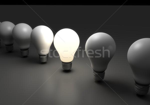 電球 1 異なる 群衆 暗い ストックフォト © goir