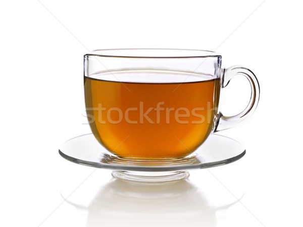 Kubek herbaty odizolowany biały kubek Zdjęcia stock © goir