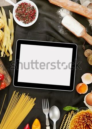 キッチン エプロン 材料 パスタ コピースペース 食品 ストックフォト © goir