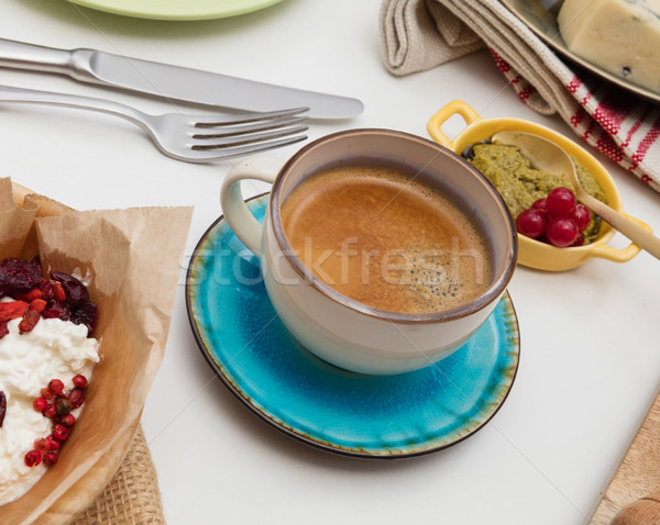 Coffee on dining table Stock photo © goir
