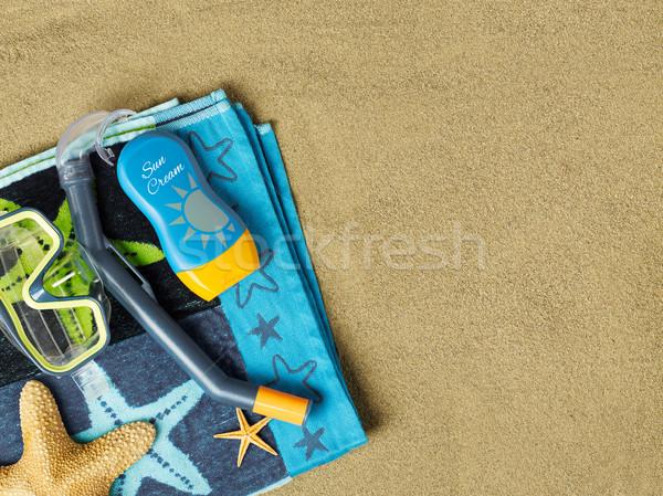 Stock photo: Leisure activities on beach