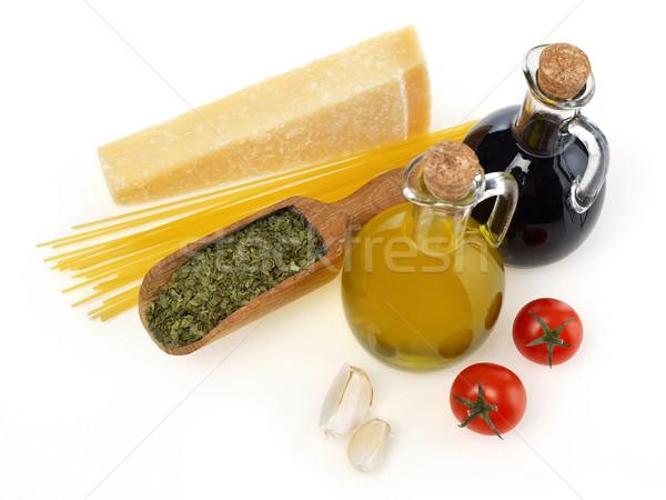 Raw italian ingredients Stock photo © goir