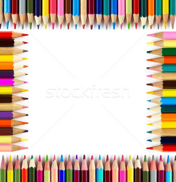 карандашей кадр белый древесины карандашом Сток-фото © goir