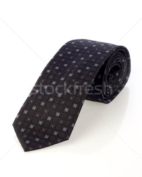 ネクタイ 孤立した 白 スーツ ギフト シルク ストックフォト © goir