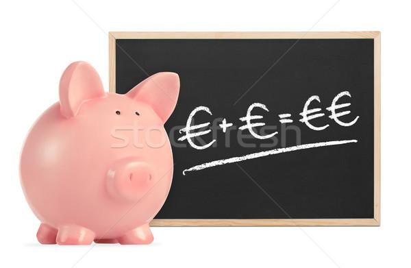Piggy Bank with savings formula Stock photo © goir