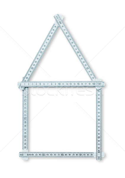 Ev cetvel marangozluk ahşap gibi Stok fotoğraf © goir