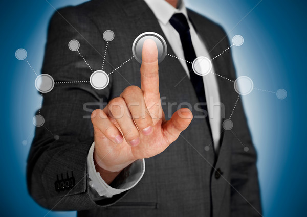 Stock photo: Touch screen concept