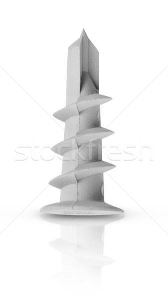ピン 白 金属 大工 白地 改善 ストックフォト © goir